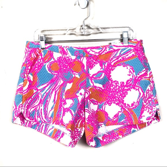 Lilly Pulitzer Pants - Lilly Pulitzer pink adie shorts pink tropical 6